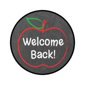 """Back to School"" Candy Favor Label"