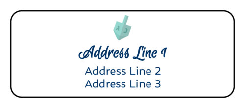Simple Hanukkah Dreidel Address Label