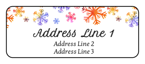 Watercolor Snowflake Address Label