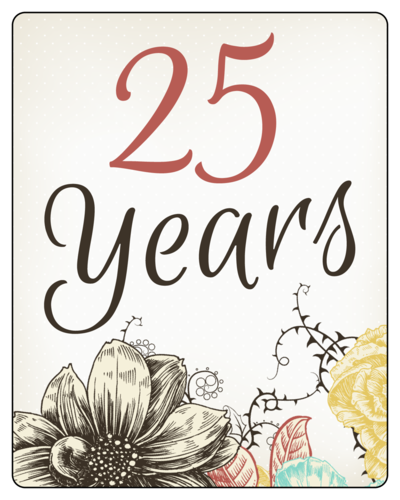 Floral Wedding Anniversary Wine Bottle Label
