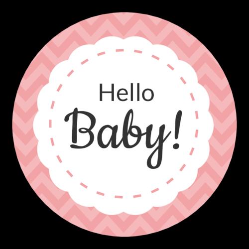 """Hello Baby"" Shower Label"