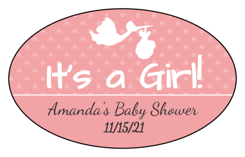 """It's a Boy/Girl!"" Stork Label"