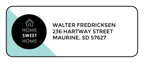 """Home Sweet Home"" Address Label"