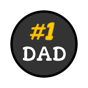 """#1 Dad"" Chocolate Kisses Favor Label"