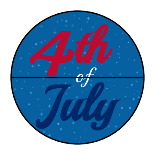 Starry 4th of July Envelope Seal