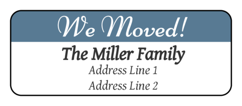"""We Moved"" Return Address Label"