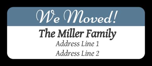 """""""We Moved"""" Return Address Label"""
