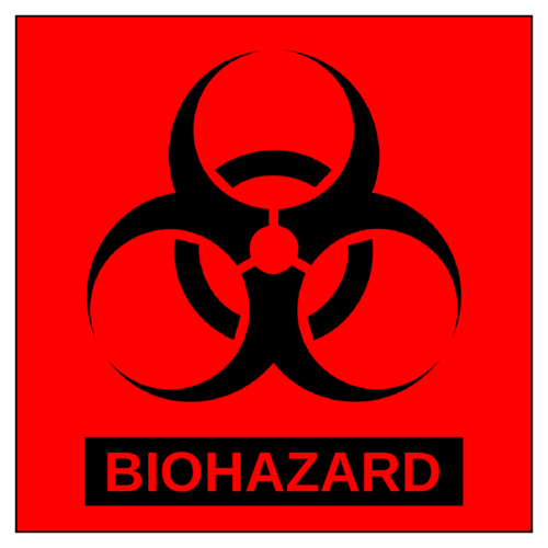 Biohazard Warning Label