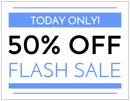 """Flash Sale"" Business Sign Label"