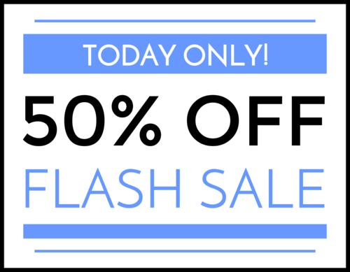 """Flash Sale"" Business Sign Label"