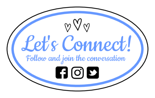 """Let's Connect!"" Social Media Oval Label"