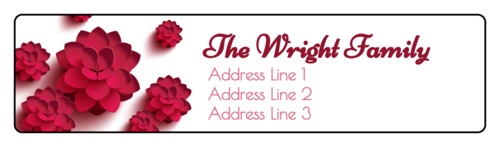 Pink Blossoms Address Label