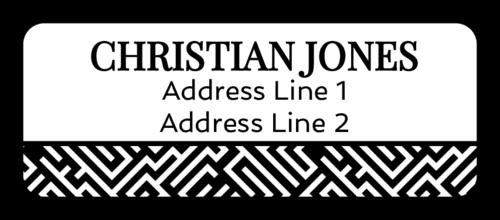 Maze Pattern Address Label