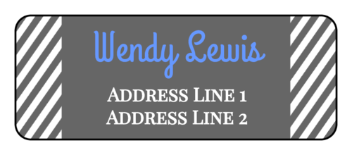 Solid and Striped Address Label