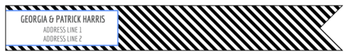 Striped Wrap-Around Address Label