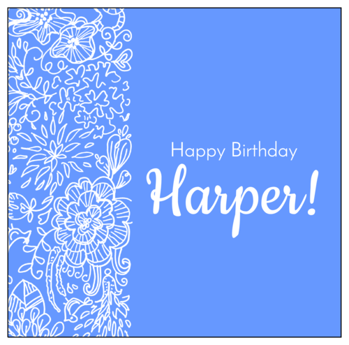 Birthday Candy Bar Wrapper Label