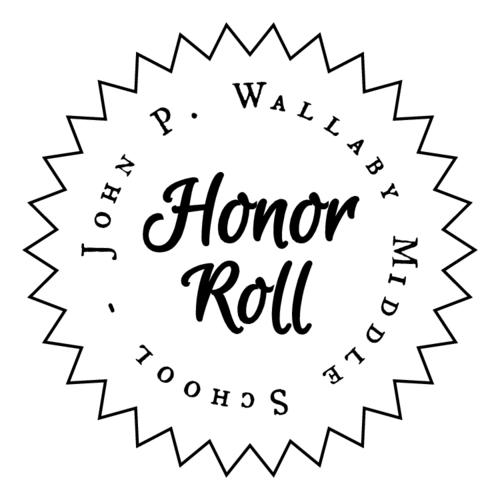 School Honor Roll Certificate Label