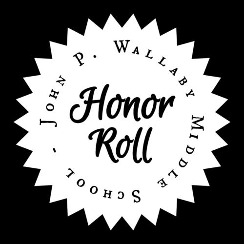 School Honor Roll Certificate Label