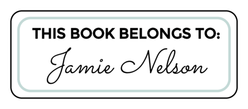 """""""This Book Belongs To"""" Bookplate Label"""