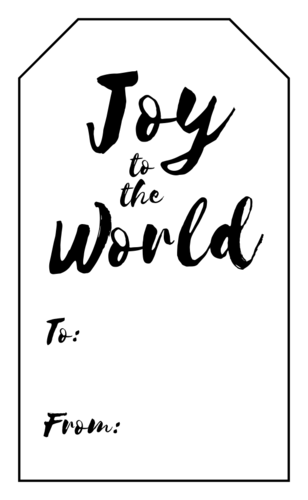 """Joy to the World"" Christmas Gift Tag"