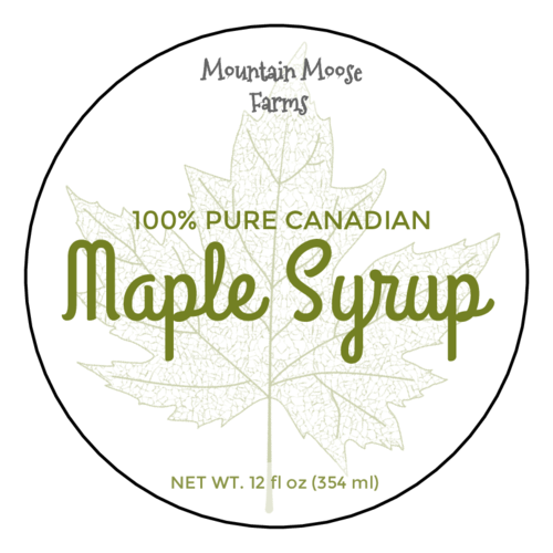 Maple Syrup Circle Label