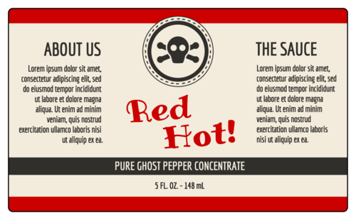 Customizable Hot Sauce Bottle Label