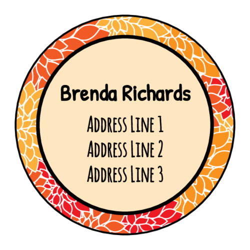 Chic Address Label