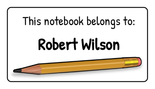 """This Notebook Belongs To"" Classroom Label"