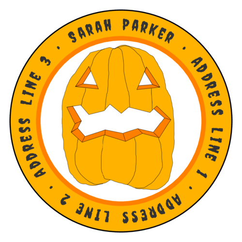 Jack-O-Lantern Halloween Address Label
