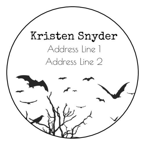 Spooky Forest Address Label