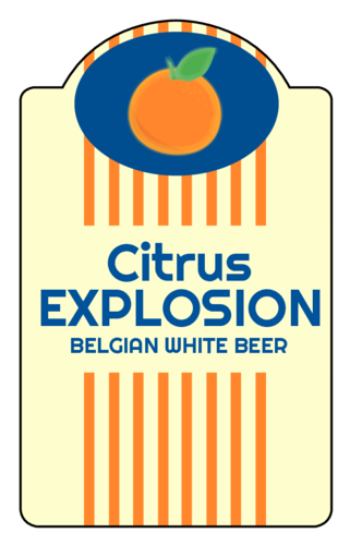 """Citrus Explosion"" Beer Bottle Label"