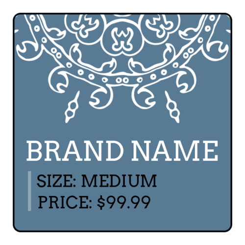 Geometric Price Tag Label
