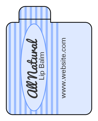 Striped Quality Seal Lip Balm Label