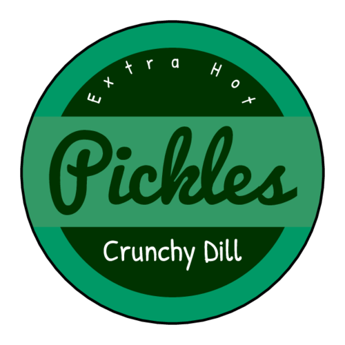 Pickle Jar Circle Label