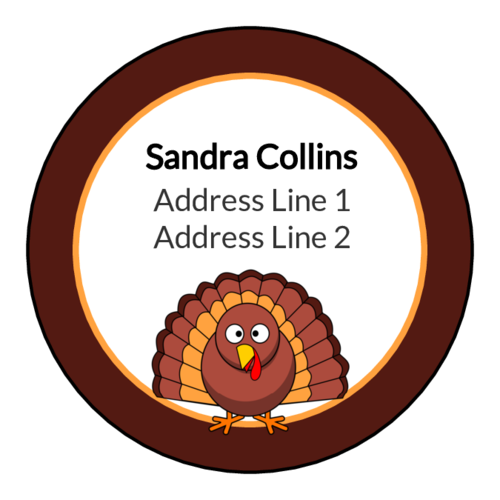 Thanksgiving Turkey Address Label