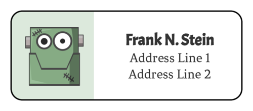 Halloween Frankenstein Address Label