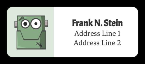 Halloween Frankenstein Address Label