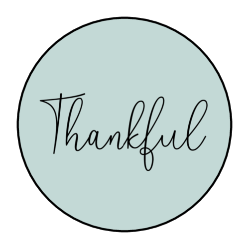 """Thankful"" Sticker"