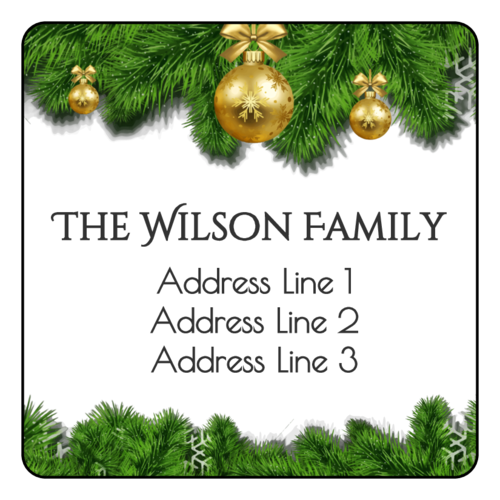 Elegant Christmas Address Label