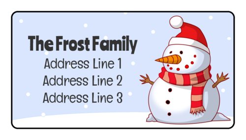 Winter Wonderland Snowman Address Label