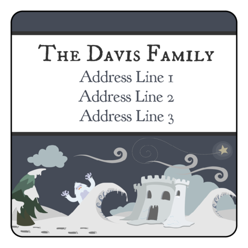Holiday Yeti Address Label