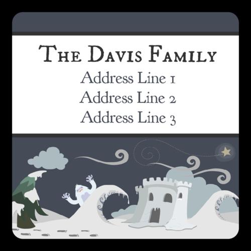 Holiday Yeti Address Label