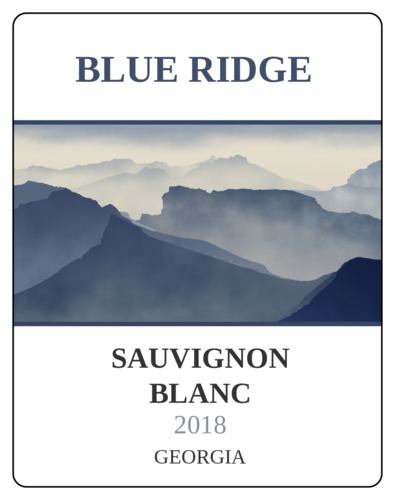 Blue Ridge Mountains Wine Bottle Label
