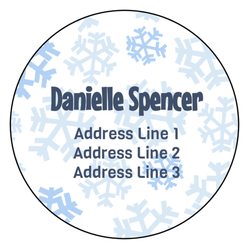 Wintery Snowflake Address Label