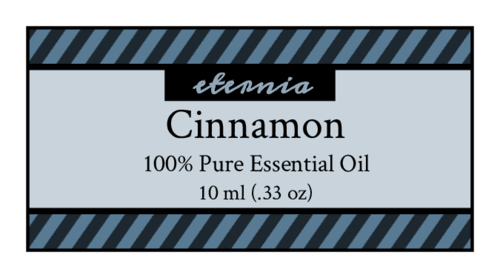 Striped Essential Oil Bottle Label