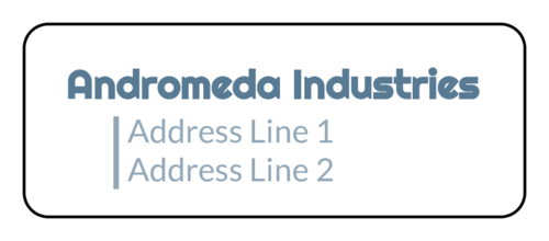 Modern Offset Address Label