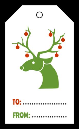 Christmas Reindeer Cardstock Gift Tag
