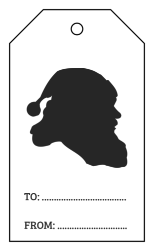 Simple Santa Silhouette Gift Tag