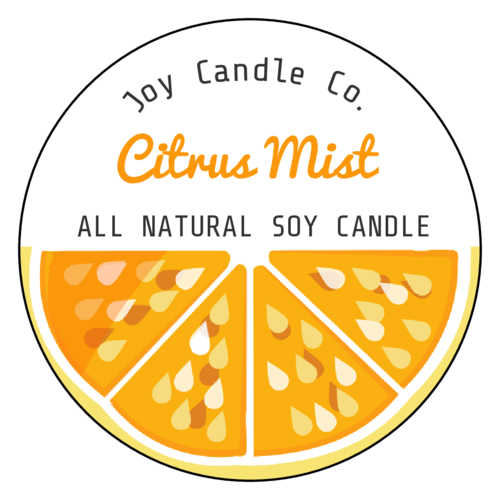Citrus Candle Label