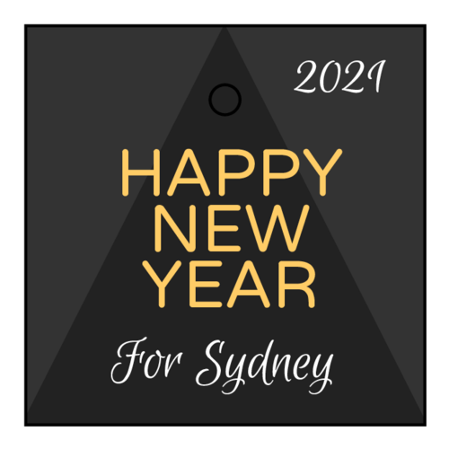 """Happy New Year"" Cardstock Gift Tag"